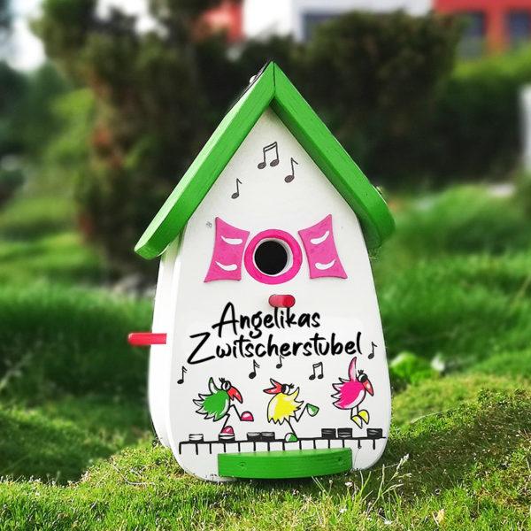 Vogelvilla Geschenk zum runden Geburtstag Namensschild Familie Einzug Richtfest Geburtstag personalisiert