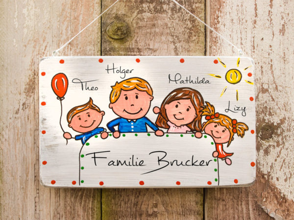 Türschild Familie