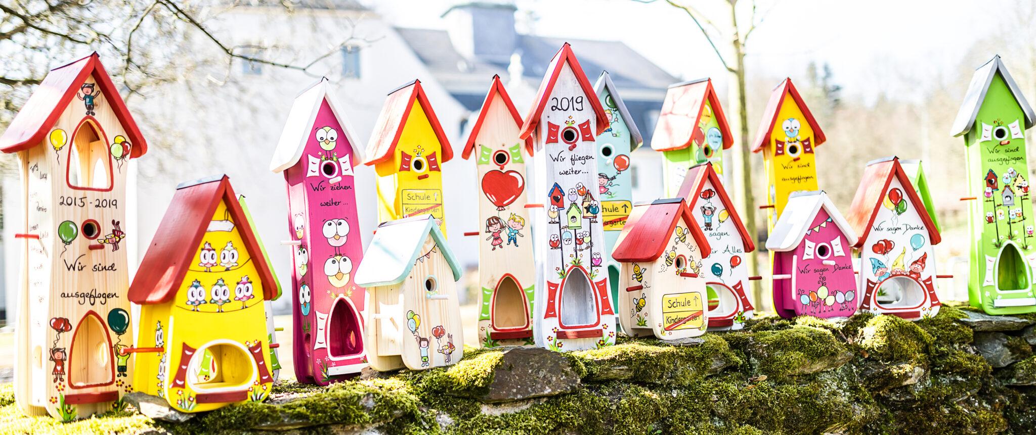 Vogelhaus Hochzeit Kindergarten Abschiedsgeschenk Individuell Bemalt