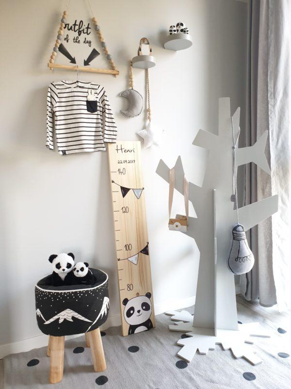 Kindermesslatte Messlatte Kinderzimmer Panda