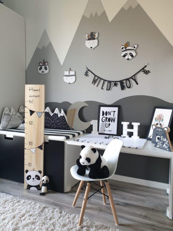 Messlatte Panda Kinderzimmer Kindermeslatte