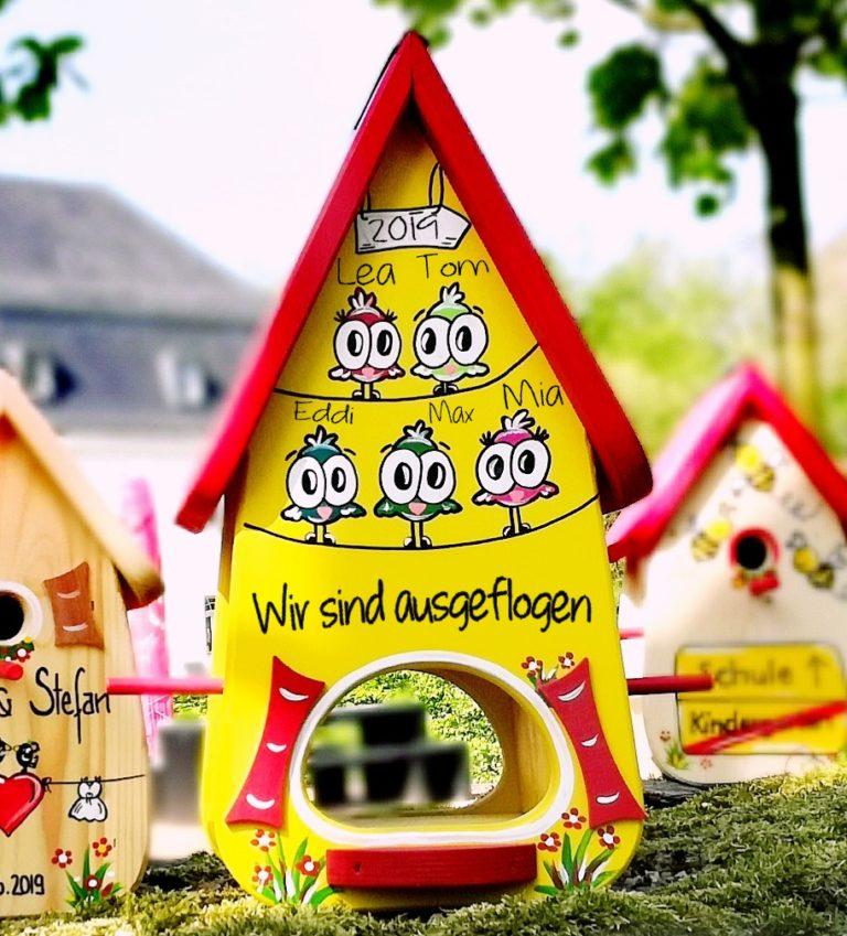 vogelhaus xxl gelbrot vögel kindergartenabschied