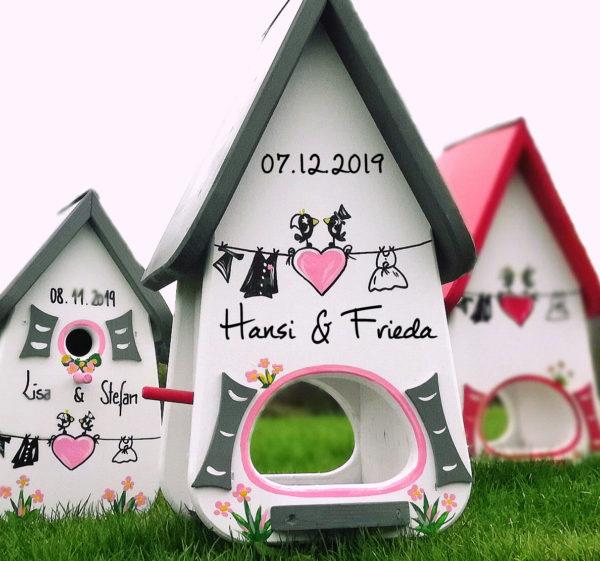 Vogelvilla Hochzeitsgeschenk Grau