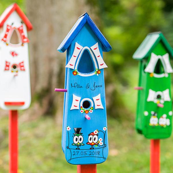 Vogelhaus Hochzeitsgeschenk individuel personalisiert