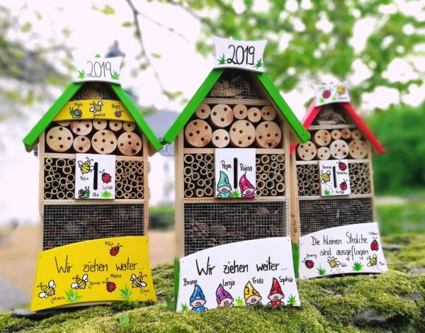 Insektenhotel Kindergarten Abschied Geschenkidee