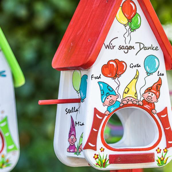 Futterhaus Kindergarten Abschiedsgeschenk