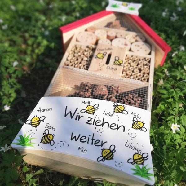 Insektenhotel Bienen Geschenkidee Kindergarten Abschied