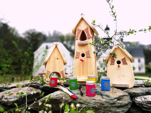 Vogelhaus Bausatz bemalen