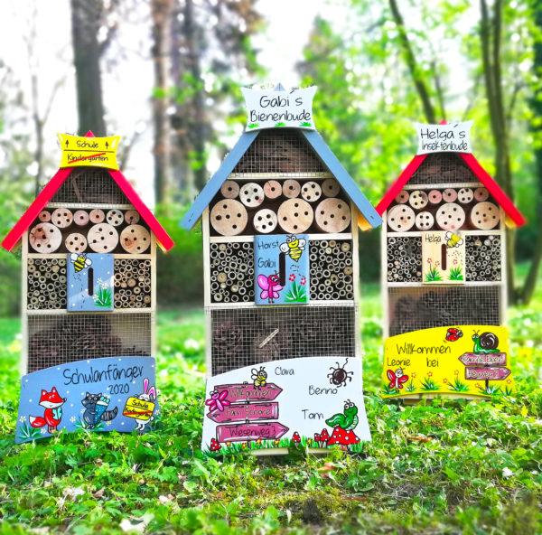 Insektenhotel geschenkidee kreativ und persönliches Abschiedsgeschenk