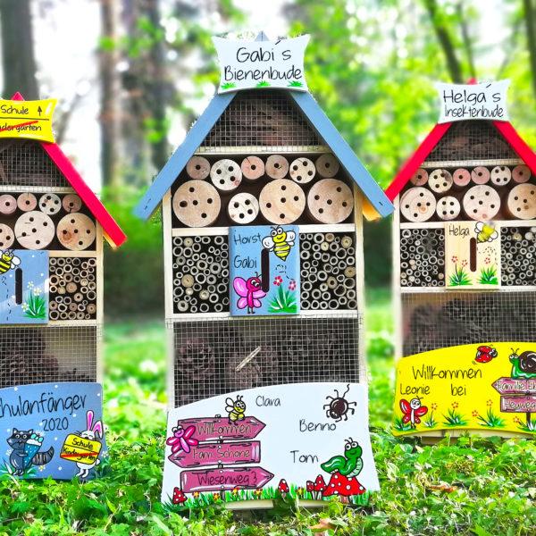 Insektenhotel Geschenkidee Abschied Kollege Rente Hochzeit Einzug Richtfest Geburtstag