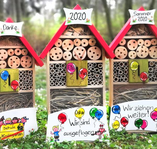 Insektenhotel Kindergarten Abschiedsgeschenk Vogelvilla