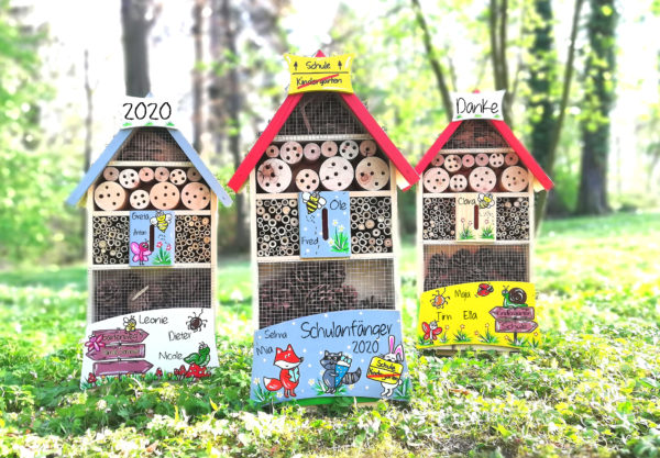 Insektenhotel geschenkidee zum Kindergarten Abschied