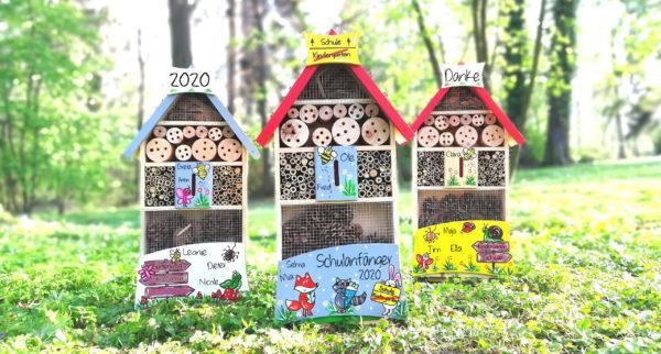 Insektenhotel Kindergarten Abschied Geschenk