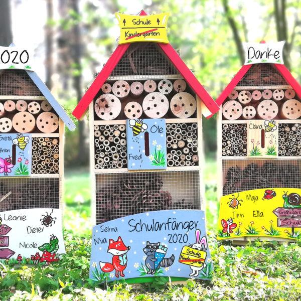 Insektenhotel Kindergarten Abschid geschenkidee