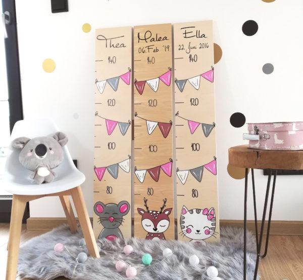 Messlatte Kinderzimmer mit Namen personalisiert