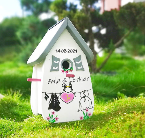 Vogelhaus Hochzeit Geschenk persönliches personalisiertes geschenk