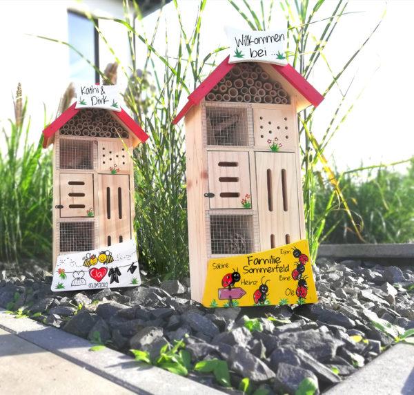 Insektenhotel kreatives Geschenk verschenken