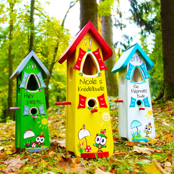 Vogelvilla Vogelhaus persönliches Geschenk