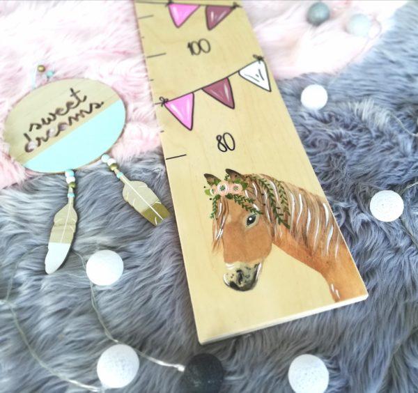 Kindermesslatte Messlatte Pferd Kinderzimmer Boho