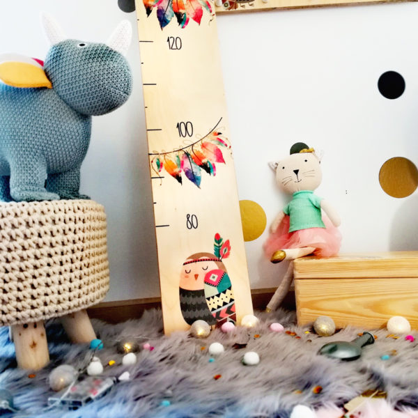 Kindermesslatte Boho Style Kinderzimmer