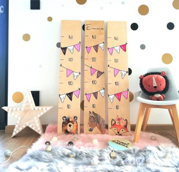 Kindermesslatte Messlatte Kinderzimmer Boho