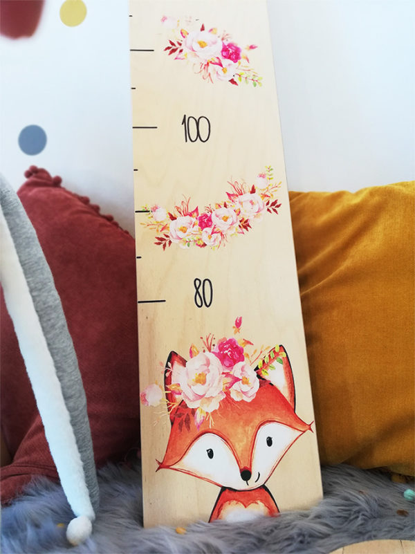 Kindermesslatte Messleiste als geschenk personalisiert mit Namen und Geburtsdatum