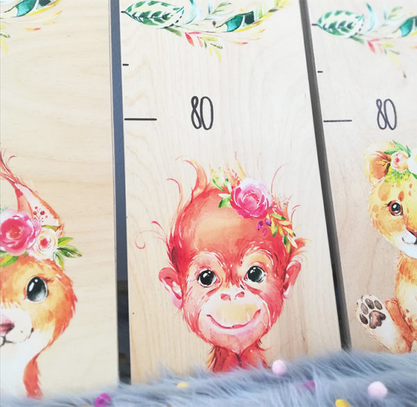 Kindermesslatte Geschenk zur Geburt und Taufe Boho Style Kinderzimmer