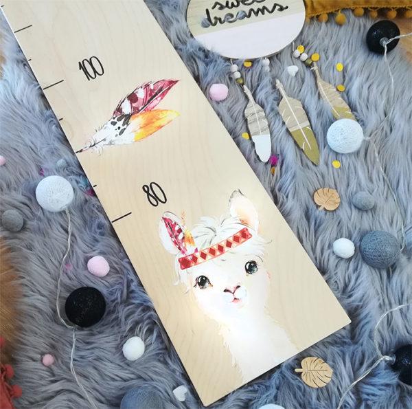 Kindermesslatte Alpaka Geschenk zur Geburt und Taufe Dschungel Style Kinderzimmer
