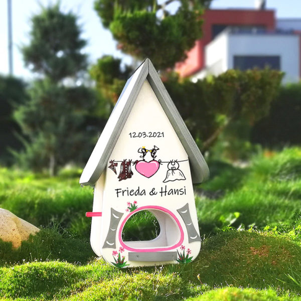 Vogelhaus Hochzeit persönliches Geschenk kreatives Hochzeitsgeschenk
