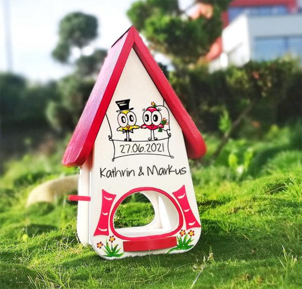 Vogelhaus Hochzeit personalisiertes persönliches Geschenk